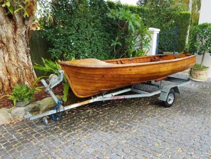 Vintage boat and trailer for sale