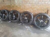 AUDI / VW Tallegada 5x112 Alloy wheels with tyres gun metal a3 a4 a6 TT Golf Passat Scirocco etc