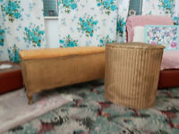 Lloyd loom Corner basket and blanket box