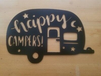 Camper Decorating Ideas (Happy Campers Metal Wall Art Plasma Cut Home Decor Gift Idea)