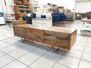 CASSEY 3 DRAWER TV UNIT SEESHAM TIMBER Rochedale Brisbane South East Preview