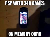 Psp with 240 games
