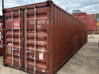 Used 40 Dry Van Steel Storage Container Shipping Cargo Conex Seabox Salt Lake