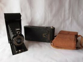 Two Antique Folding Autographic Cameras (Over 100 years old).