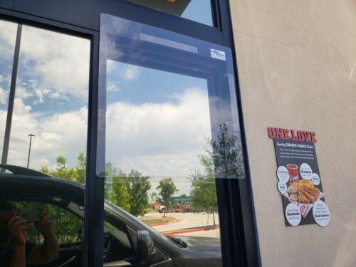 Drive Thru Window SNEEZE GUARD Plastic PROTECTION Barrier SHIELD w/ VELCRO
