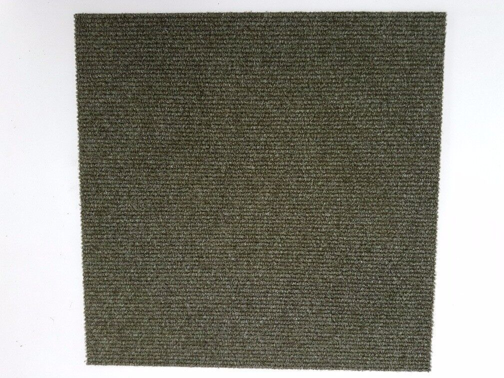 Commercial Olive Green Carpet Office Home Study Garage Tiles