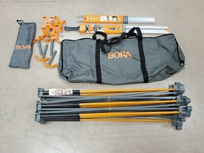 Bora Centipede 4x4 CK9S Work Table with 4 X-Cups 4 Quick Clamps WTX clamp edge