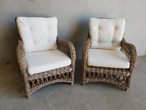 Coastal Occasional Chair with Surf Mist Cushions Loganholme Logan Area Preview