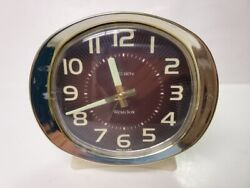 Vintage Westclox Big Ben Alarm Clock, Brown Face Wind Up Brass Ivory Glow Hands