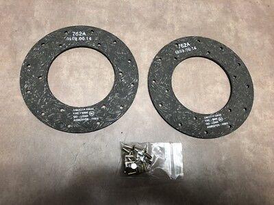 One Pair Cockshutt Tractor Brake Disc Part T013267 - K2604 Aftermarket Nos