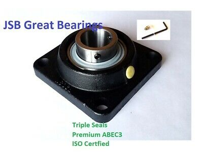 2 Ucf210-32 Square Flange Bearing Premium Solid Base Triple Seals Abec3 2