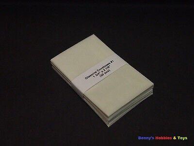 """50 New Glassine Envelopes #1 - 1 3/4"""" x 2 7/8"""" - Stamp Philately Supplies"""
