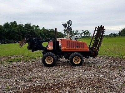 DITCH WITCH 410SX 4X4 WALK BEHIND TRENCHER / CABLE PLOW, CATERPILLAR DIESEL!