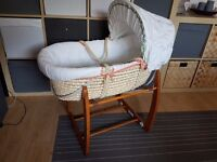 Mamas and Papas Moses Basket with Rocking Stand - RRP £150