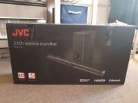 JVC TH-WL515B 220W 2.1 Bluetooth Wireless Sound bar & Subwoofer - Optical / HDMI