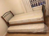John Lewis £750 Guest Trundle Bed, 2 x New Mattresses, Free Delivery