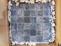 Italian marble mosaic tiles (four sheets 300x300mm)