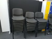 Black Fabric with Metal Frame Office Meeting Room Chairs x 16
