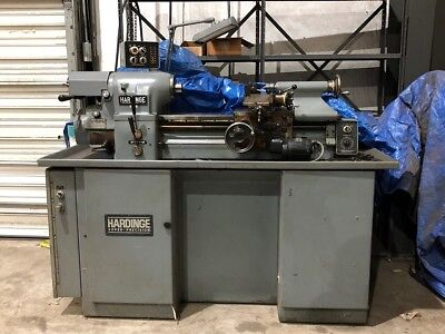 Immaculate Hardinge Hlv-h Super Precision Tool Room Lathe
