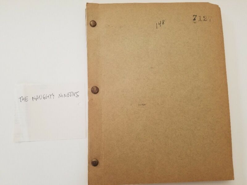 ABBOTT AND COSTELLO The Naughty Nineties/1943 Original Screenplay Contract Copy