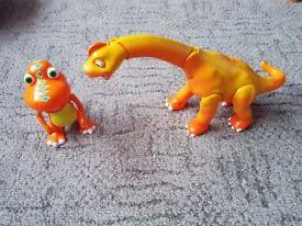 Two dinosaur train toys