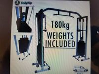 BodyRip Power Cable Crossover Machine and 180kg weights included. COST £429!!