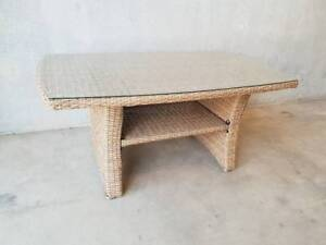Seahaven Coffee Table in Seagrass Rattan with Glass Top Loganholme Logan Area Preview