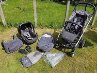Mamas and Papas Sola2 Travel System with Maxi Cosi Peeble Car Seat
