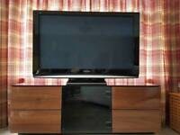 TV unit with Black glass top