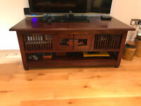 TV Table. Excellent condition. Balinese wood. Storage. 120 x 60 x 50 cm (LxWxH)