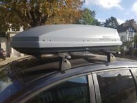 Exodus 470 litre roofbox and roof bars (plus fitting kit for Ford C-Max)