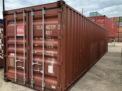 Used 40 Dry Van Steel Storage Container Shipping Cargo Conex Seabox Phoenix