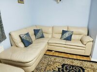 Leather Corner Suite with Chaise Lounge