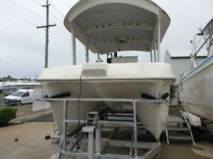 2005 Custom 6m Cat 2 x 2014 Tohatsu 50hp Direct injection Outboards  Pialba Fraser Coast Preview