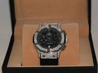 Hublot iced out watch