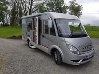 Hymer Exsis 522 Motor Home on Ford Chassis.