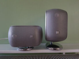 B and W M1 Speaker Pair Silver