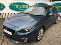 CAN'T GET CREDIT? CALL US! Mazda 3 2.0 SKYACTIV-G Sport Nav, 2015 - £200 DEPOSIT, £62 PER WEEK