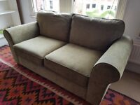 MARKS AND SPENCER TWO SEATER SOFA IN SAGE GREEN