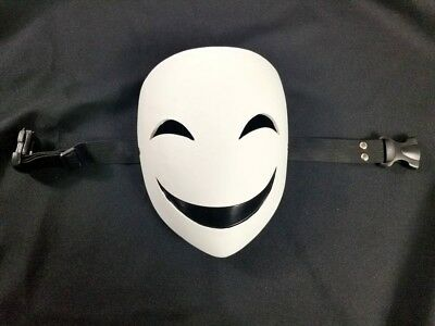 White Smiling Clown Cosplay Costume Masquerade Halloween Prop