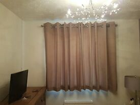 "Next"" Mink Cotton Curtains"