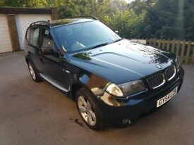 BMW X3 3.0iSport 5dr. Automatic + manual. 81,000 miles. 2 lady owners.