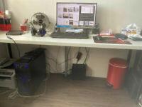 White Ikea desk 200x60 cm - work table / crafts / kitchen