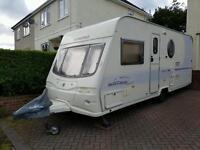 Avondale bianco fixed bed caravan
