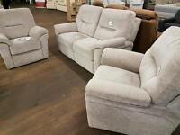 Brand new 3 piece fabric sofa set