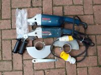 1 x Brand new BOSCH 110V Angle Grinder and 1 x Used.