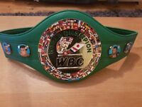 WBC World Champion Boxing Belt. Exact Scale Replica, Real Leather, Rare - Only 4 left!