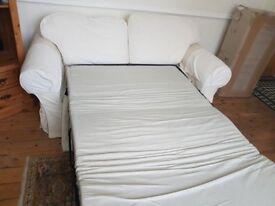 Sofa Bed - Approx 180cm wide, 90cm deep, 90cm high. Fair condition.