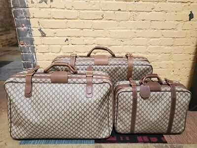 Vintage Gucci Luggage Complete Set (3 pieces )