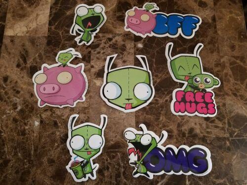 Invader Zim 14 Stickers Nickelodeon Buy 1 Set Get 1 FREE 28 Stickers Total